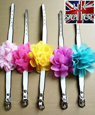 Dog Collar With Flower PU Leather