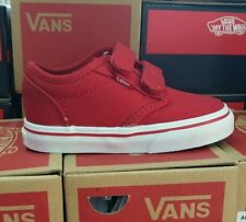 Vans Atwood V Red Canvas Velcro Infant Toddler Baby Boy Girl Shoes Size 7.5