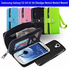 Wallet Case For Samsung Galaxy S3 S4 S5 S6 S6edge Note2 Note3 Note4 Wallet Coin