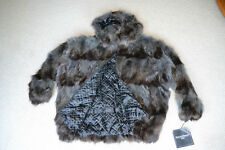 NEW WOMENS MENS HOODED KNOLES & CARTER RACCOON FUR LINED JACKET COAT STROLLER