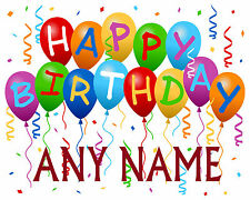 Personalised Birthday wrapping paper ANY NAME 10 sheets & 10 Matching gift Tags