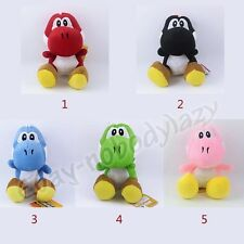 New ! JP Game Super Mario Sitting YOSHI Colors 15cm Soft Plush Stuffed Toy Doll