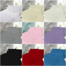 Soft 100% Cotton Thermal Flannelette Bedding Fitted, Flat Sheets, Pillowcases