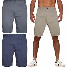 MENS BRANDED COTTON SUMMER CANVAS CHINO SHORTS COMBAT SMART CASUAL CARGO PANTS