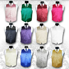 "Special Occasion Men's Plain Satin Finish Wedding Waistcoat - Size 36"" - 50"""