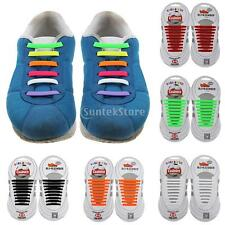 NO TIE ELASTIC SILICONE ROUND SHOELACES SNEAKERS FOOTBALL SHOES LACES SET/18PC