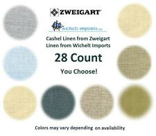 28 Count Cashel Linen ZWEIGART & WICHELT **YOU CHOOSE** Cross Stitch-Embroidery
