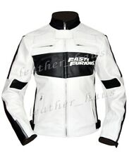 Fast & Furious 7 Vin Dominic Toretto Genuine Leather Driver Jacket #533
