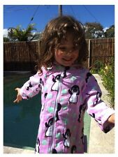 Back Beach (Go Splash) Hooded Towelling Robes - Pink Penguin