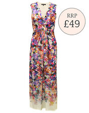 M&S Floral Print Maxi Dress Occasion Summer Dress Party Size 8 10 12 14 16 18