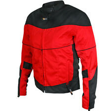 New Womens Black & Red Armored Textile Motorcycle biker Jacket $149.95  SIZES