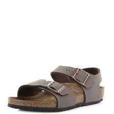 Kids Girls Boys Birkenstock New York Kinder Mocca Two Strap Buckle Sanda Shu Siz