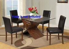 Cherry Finish Dining Chairs Furniture upholstered Comfort Breakfast Chair set