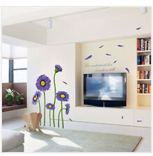 Sun Flower Wall Stickers Living Room Mural Decals Home Decor Art Removable DIY