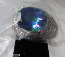 AVON Sterling Silver Blue Mystique Topaz Ring only size 6 left