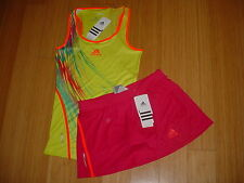 WOMENS/LADIES ADIDAS ADIZERO TENNIS OUTFIT SKIRT/SKORT & TANK TOP Sale !! 49.95