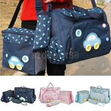 4Pcs Multi-Function Baby Diaper Nappy Bag/Mummy Changing Handbag Mat Holder Set