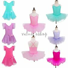 Girls Gymnastic Ballet Leotard Tutu Dress Ballerina Dance Outfit Costume 2-12Yrs