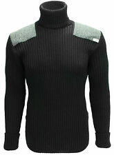 Roll Neck Sweater | Harris Tweed patches | 100% British Wool | # 14132