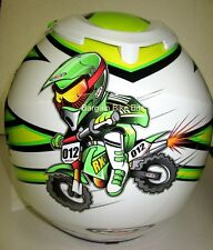 RXT YOUTH MOTOCROSS HELMET NEW! Kaw GREEN KIDS Childrens Motorcross BMX MX