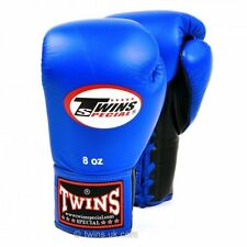 Twins Special Lace-up Boxing Gloves Muay Thai Boxing - Blue