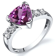 Solitaire Style 2.50 cts Pink Sapphire CZ Ring Sterling Silver Sizes 5 to 9