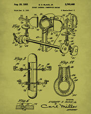 Rotary Engine Patent Print Mechanic Blueprint Decor Man Cave Wall Art Poster