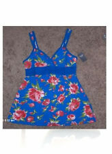 NWT ABERCROMBIE & FITCH BLUE ROSE BABY DOLL TOP