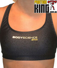 BODY SCIENCE BSc COMPRESSION WOMENS BODY ACTIVE SPORTS BRA SIZE 10 VIPER  GYM