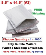 #3 8.5x14.5 Poly Bubble Mailers Padded Shipping Envelopes Bags 1 25 50 100 1000