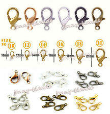50/100Pcs Silver/Gold/Bronze Lobster Claw Clasps Hooks Finding New 10/12/14/16mm