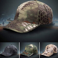 Men Camouflage Military Adjustable Hat Camo Hunting Fishing Army Baseball Cap 7h