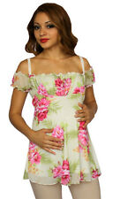 Pink Maternity Short Sleeve Maternity Top Casual Womens Floral Casual S M L XL