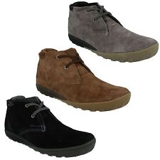 MENS CATERPILLAR SUEDE LEATHER LACE UP ANKLE CRUMP MID CUT BOOTS CASUAL SHOES