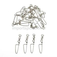 20pcs Stainless Steel Ball Bearing Snap Swivels - 31mm/36mm/42mm/48mm/58mm/67mm