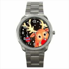 Rudolph the Red Nosed Christmas Reindeer Stainless Steel Watches