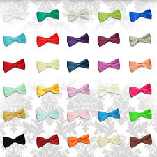 Men's Plain Satin Evening Work Special Occasion Wedding Groom Pre-Tied Bow Tie