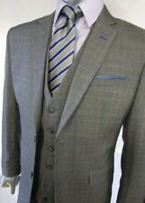 Designer Mens Checked Vintage 3 Piece Suit Blazer Jacket Great Value 3pcs Suit