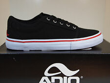 Adio Melbourne Black Red US 7.5 Mens Sneakers Shoes w/Box NEW Tennis Canvas