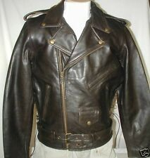Bigfoot Classic Retro Brown Premium  Leather Motorcycle Jacket Sizes Retail $249