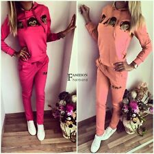 Women Tracksuit Hoodie Sweats Sweatshirt Pants Sets Sport Wear Casual Suit FNHB