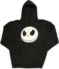 Nightmare Before Christmas Head Jack Glow in the Dark Mens Pullover Hoodie S-2XL