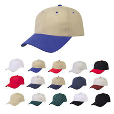 Heavy Brushed Cotton 6 Panel Low Crown Baseball Cap Caps Hat Hats