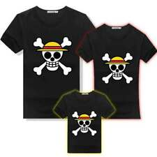 Anime One Piece Monkey D Luffy Pirate Skull Couple Family Matching T-Shirt Shirt