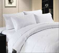 1000Thread Count 100%Egyptian Cotton US-Complete Bedding Items Soft White Solid