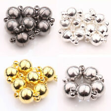 5/10Sets Silver/Gold Plated Round Strong Magnetic Clasps Hooks Jewelry Making