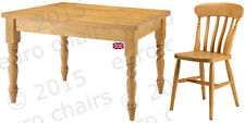 WAXED PINE DINING SET | WAXED DINING TABLE & CHAIRS | WAXED TABLE & FOUR CHAIRS