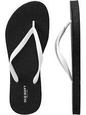 FLIP FLOPS WOMENS shoes Old Navy Thong Sandals Flat Black or White