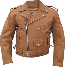 Buff Nubuck Brown Buffalo Leather Motorcycle Jacket  Sizes by Allstate