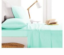 800TC Egyptian Cotton SHEET SET Sateen Solid Mint Blue
